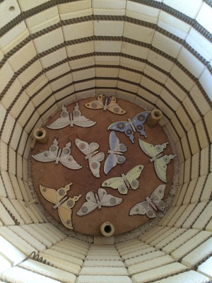 Angela Evans Butterflies in the kiln