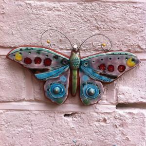 Angela Evans Butterfly on the wall