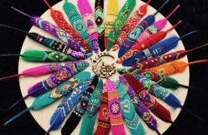 Donna Davidson Hand decorated feathers