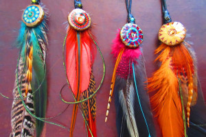 Donna Davidson feather accessories
