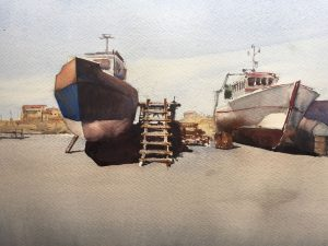 John Haywood Boats in dry dock La Cotiniere France
