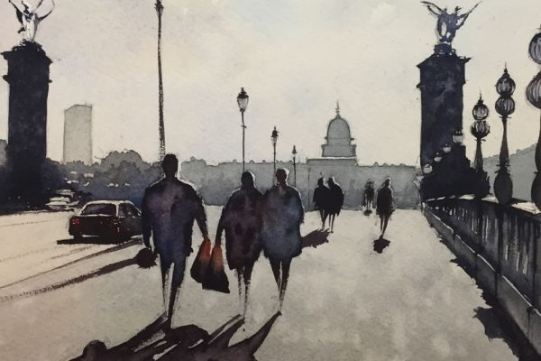 John Haywood Crossing Pont Alexandre III Paris